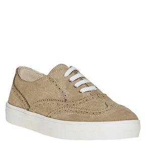 Sneakers da bambino di pelle, marrone, 313-3256 - 13