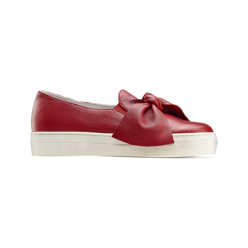 Slip on in pelle rosse north-star, rosso, 514-5264 - 13