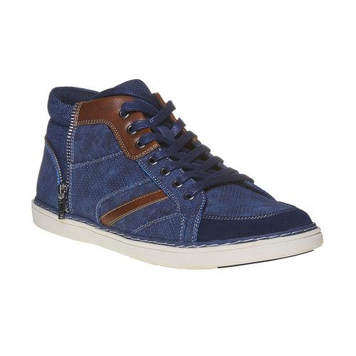Sneakers da uomo sopra la caviglia bata, blu, 841-9342 - 13
