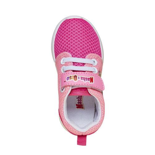 Sneakers rosa da bambina, rosso, 229-5192 - 19