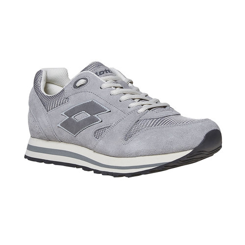 Sneakers in pelle da uomo lotto, grigio, 803-2147 - 13
