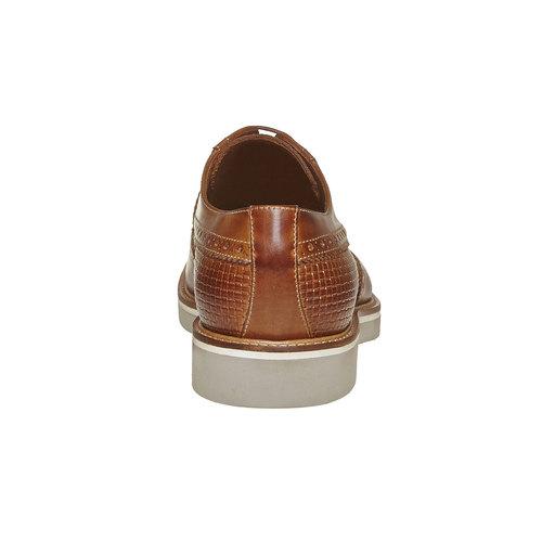 Scarpe basse di pelle con decorazione Brogue bata-the-shoemaker, marrone, 824-3302 - 17