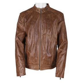 Giacca da uomo in pelle marrone bata, marrone, 974-3164 - 13