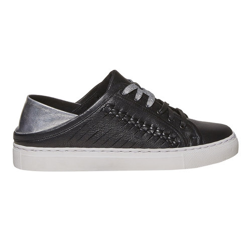 Sneakers da donna di pelle north-star, nero, 544-6210 - 15