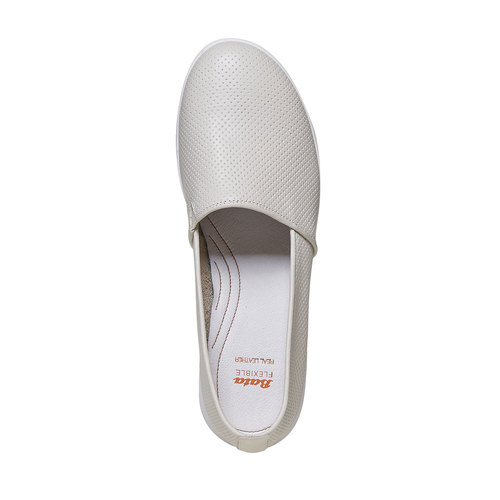 Slip-on da donna in pelle flexible, beige, 514-8270 - 19