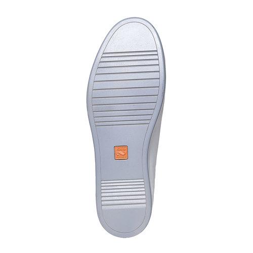Sneakers bianche di pelle flexible, bianco, 844-1705 - 26