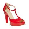 Sandali rossi con tacco bata, rosso, 724-5708 - 13
