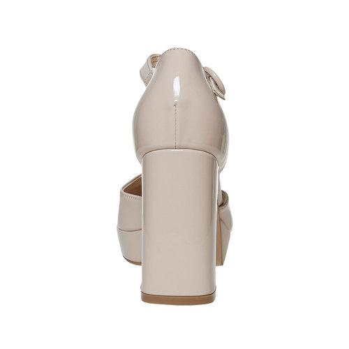 décolleté con cinturino e tacco largo insolia, beige, 721-8962 - 17