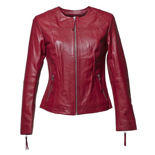Giacca elegante di pelle bata, rosso, 974-5312 - 13