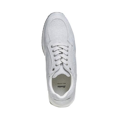 Sneakers argentate da donna bata, grigio, 549-2255 - 19