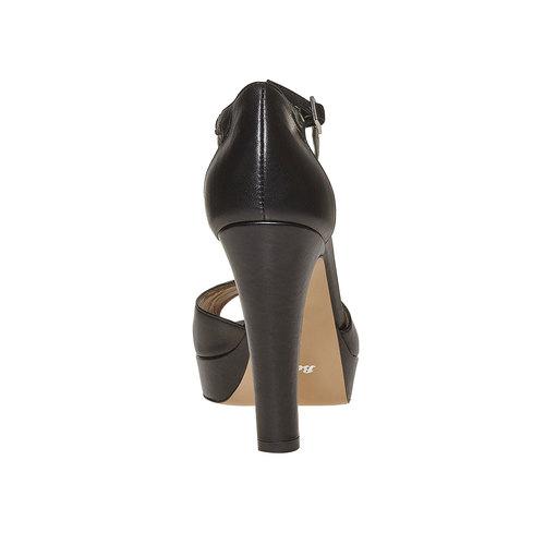 Sandali in pelle da donna bata, nero, 724-6708 - 17