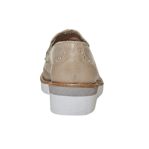 Mocassini da donna con suola appariscente bata, beige, 514-2256 - 17