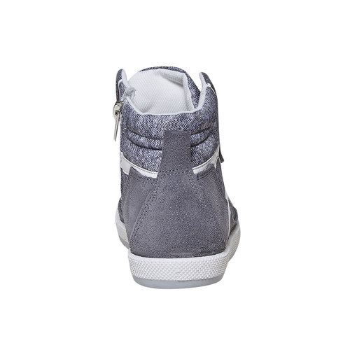Sneakers da bambino sopra la caviglia flexible, grigio, 311-2245 - 17