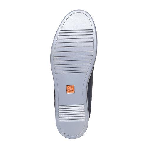 Sneakers da uomo in pelle flexible, blu, 844-9705 - 26
