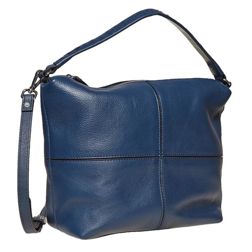 Borsetta di pelle in stile Hobo bata, blu, 964-9121 - 13