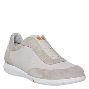 Sneakers da donna in pelle flexible, beige, 514-8271 - 13