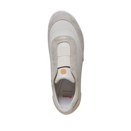 Sneakers da donna in pelle flexible, giallo, 514-8271 - 19