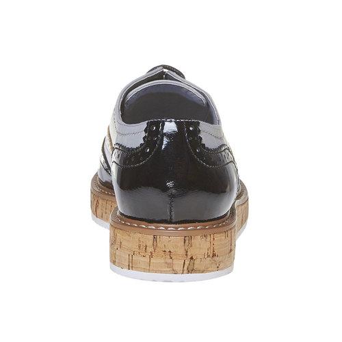 Scarpe basse casual da donna, nero, 521-6585 - 17