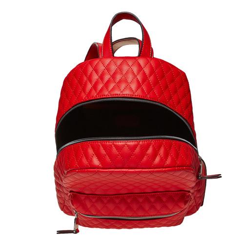 Zaino rosso con cuciture bata, rosso, 961-5923 - 15