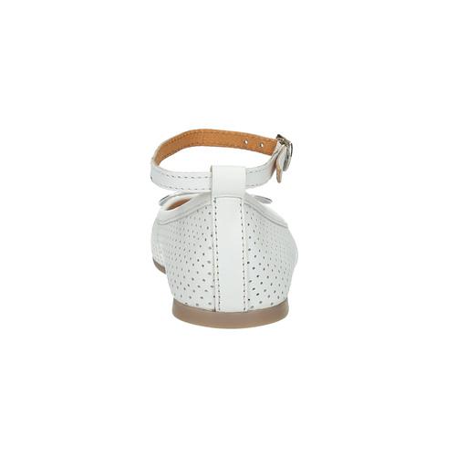 Ballerine in pelle da bambina con cinturino, bianco, 324-1252 - 17