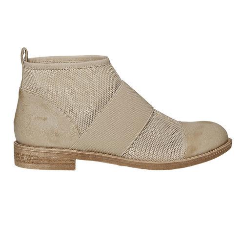Scarpe da donna alla caviglia bata, beige, 591-8550 - 15