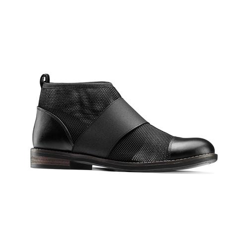 Ankle Boots con fasce elastiche bata, nero, 591-6550 - 13