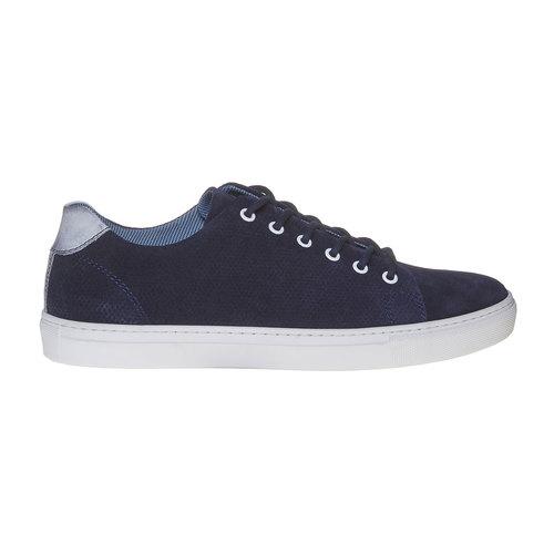 Sneakers in pelle informali bata, blu, 843-9227 - 15