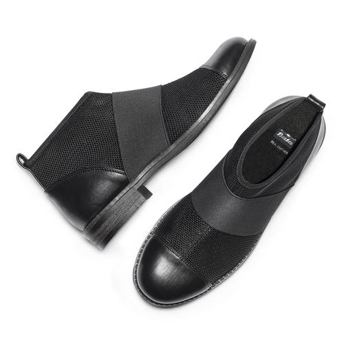 Ankle Boots con fasce elastiche bata, nero, 591-6550 - 26
