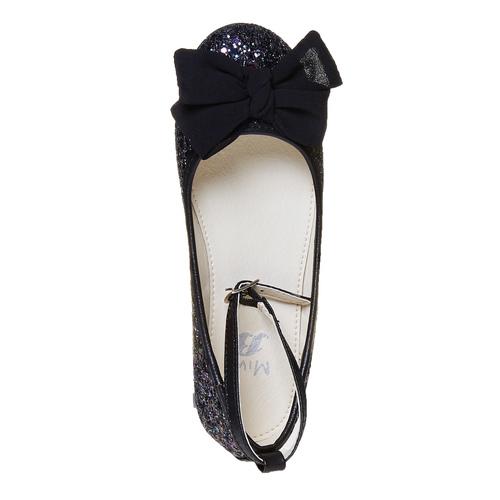 Ballerine da ragazza con glitter mini-b, nero, 329-6177 - 19
