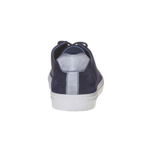 Sneakers in pelle informali bata, blu, 843-9227 - 17