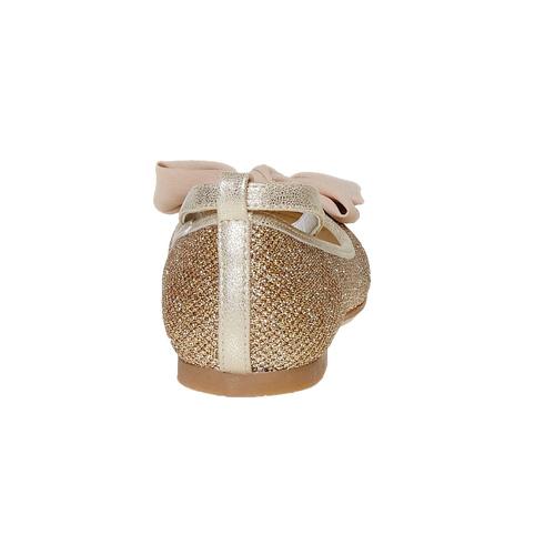 Ballerine da ragazza con fiocco mini-b, oro, 329-8241 - 17