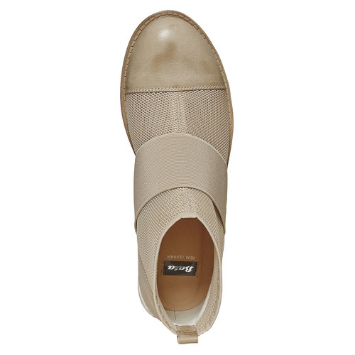 Scarpe da donna alla caviglia bata, beige, 591-8550 - 19