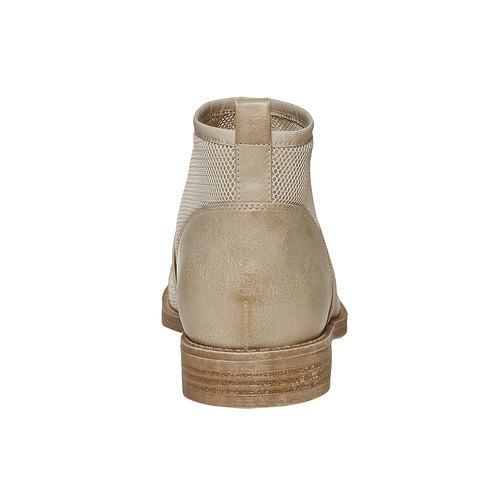 Scarpe da donna alla caviglia bata, beige, 591-8550 - 17