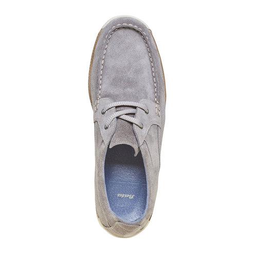 Sneakers informali di pelle bata, beige, 843-1297 - 19