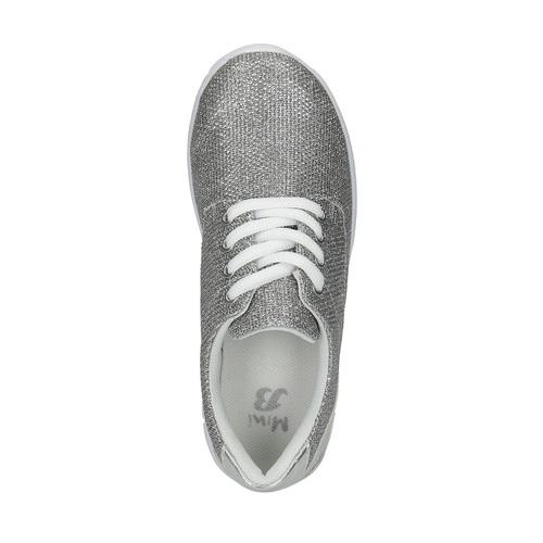 Sneakers argentate da bambina mini-b, grigio, 329-2264 - 19