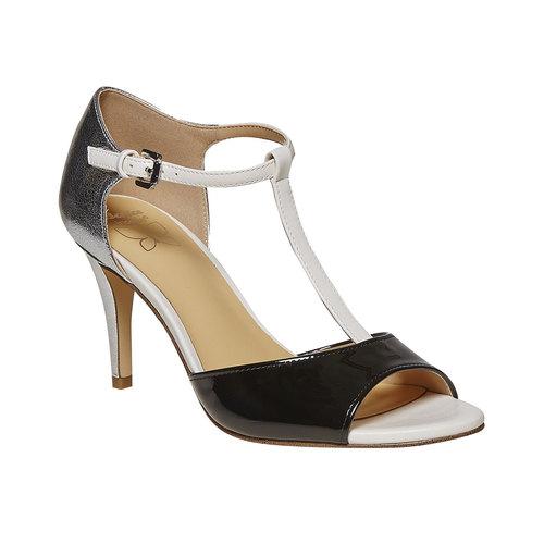 Sandali da donna con tacco insolia, bianco, 761-1259 - 13