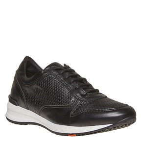 Sneakers in pelle con perforazioni flexible, nero, 524-6596 - 13