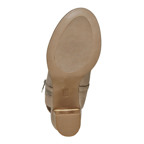 Scarpe in pelle con punta aperta bata, beige, 724-2530 - 26
