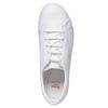 Sneakers bianche in pelle flexible, bianco, 524-1597 - 19
