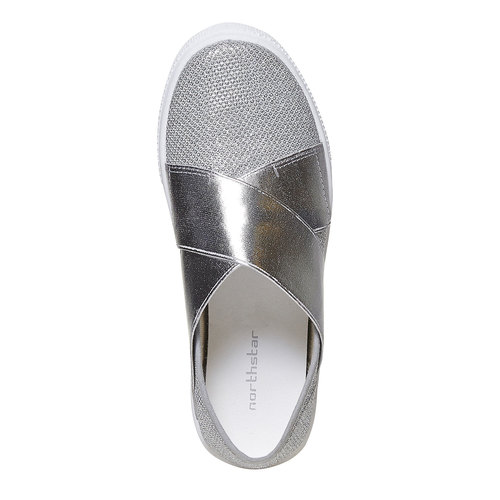 Slip-on metallizzate da bambina north-star, argento, 329-1279 - 19