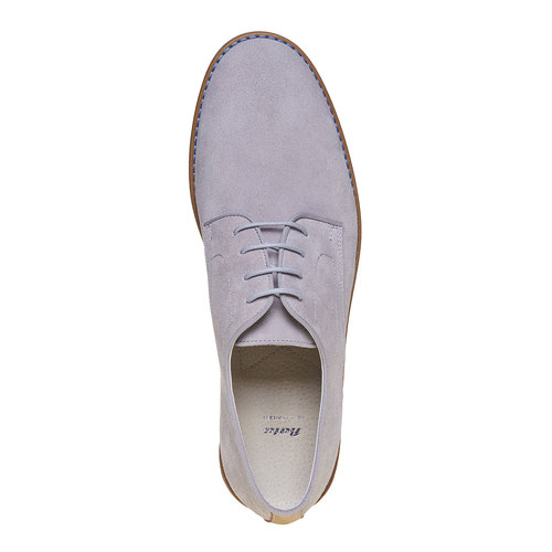 Scarpe basse casual di pelle bata, grigio, 823-2267 - 19