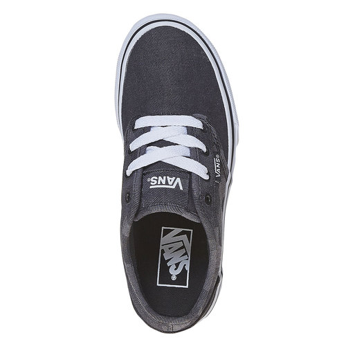 Sneakers da bambino con motivo vans, nero, 489-6101 - 19