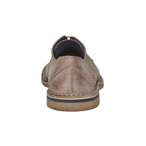 Scarpe basse da uomo in pelle bata, beige, 854-2238 - 17