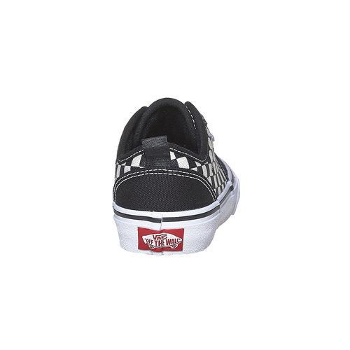 Sneakers da bambino con motivo a scacchi vans, nero, 489-6102 - 17