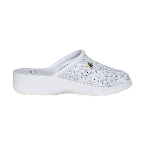 Pantofole di pelle con motivo, grigio, 574-2291 - 15