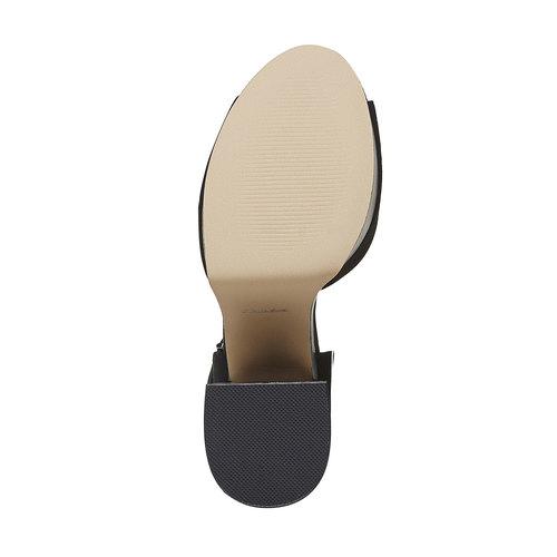 Sandali con tacco e plateau, nero, 769-6493 - 26