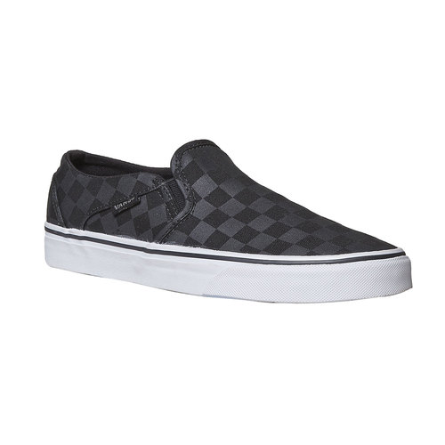 Slip-on da donna con motivo vans, nero, 589-6288 - 13