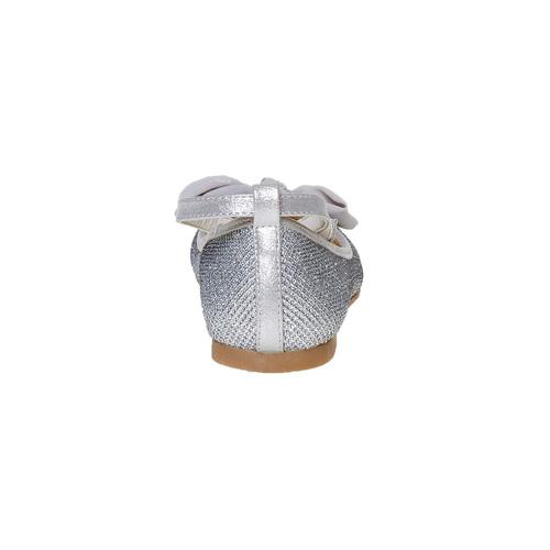 Ballerine argentate con fiocco mini-b, grigio, 329-2241 - 17