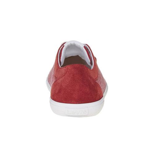 Sneakers rosse da uomo levis, rosso, 849-5513 - 17