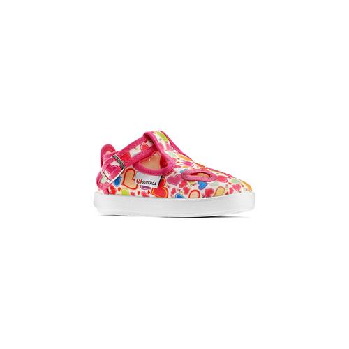 Sandali stampati Superga superga, rosa, 169-5132 - 13
